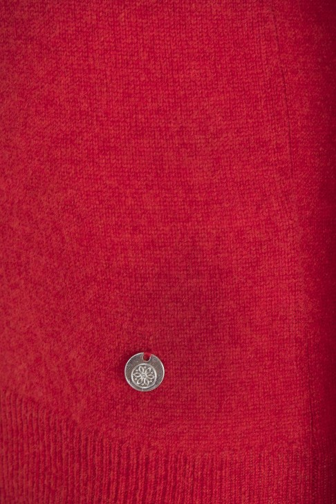 Pull col roule Reaumur Rouge