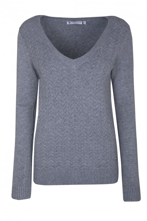 Pull Bathilde Gris Chine